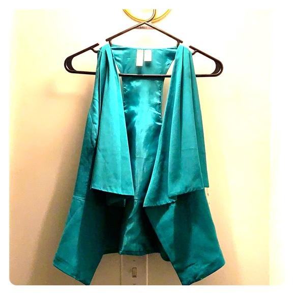 Forever 21 Jackets & Blazers - Green Open Vest